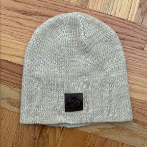 Happy Earth Apparel Beanie Cream & White - Unisex